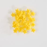 Streudekor, Zucker-Sterne gelb im Kunststoffeimer