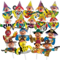 100 St. Chenille-Einstecker  Karneval