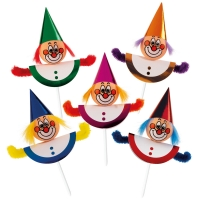 "Chenille-Einstecker ""Clowns"""