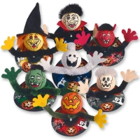 "Chenille-Einstecker ""Halloween"""
