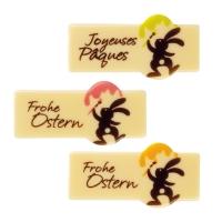 """Streifen """"Frohe Ostern"""", weiße Schokolade, sort."""