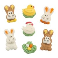 100 St. Zucker-Figuren Mini-Set  Ostern