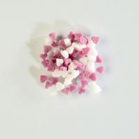 Streudekor Mini-Zucker-Herzen, weiß/rosa