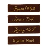 """Schriftstreifen """"Joyeux Noël"""", dunkle Schokolade"""