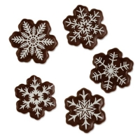 Schneeflocken, dunkle Schokolade sortiert