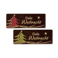 """Aufleger, """"Frohe Weihnacht"""", dunkle Schokolade"""