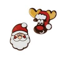 Nikolaus und Elch, dunkle Schokolade, sortiert