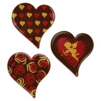 96 St. Herzen, dunkle Schokolade, sortiert