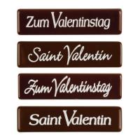 96 St. Schriftstreifen  Zum Valentinstag , dunkle Schokolade