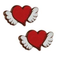 128 St. Herz mit Flügel, dunkle Schokolade
