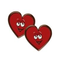 160 St. Herzgesichter, dunkle Schokolade