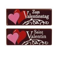 """Streifen """"Zum Valentinstag"""", dunkle Schokolade"""