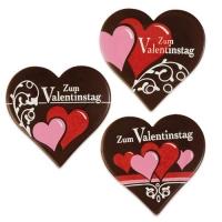 """Herz """"Zum Valentinstag"""", dunkle Schokolade, sortiert"""