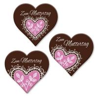 """Herz """"Zum Muttertag"""", dunkle Schokolade, sortiert"""