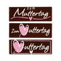 72 St. Streifen  Zum Muttertag , dunkle Schokolade, sort.