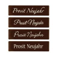 96 St. Schriftstreifen  Prosit Neujahr , dunkle Schokolade
