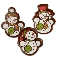 96 St. Schneemänner, dunkle Schokolade, sortiert