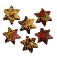 Schokoladen-Hohlsterne Weihnachten, dunkle Schokolade