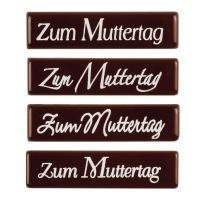 """Schriftstreifen """"Zum Muttertag"""", dunkle Schokolade"""