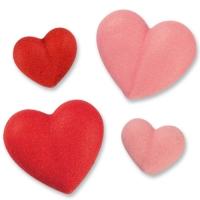 Herzen, rot, rosa, groß, klein