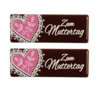 Schriftstreifen Zum Muttertag, dunkle Schokolade