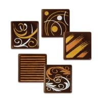 216 St. Quadrate klein, dunkle Schokolade, sortiert