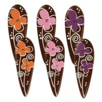90 St. Einstecker Blumen, dunkle Schokolade, sortiert