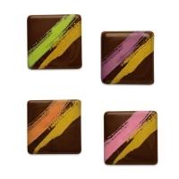 Quadrate, dunkle Schokolade, sortiert
