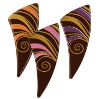 Fächer, dunkle Schokolade, sortiert