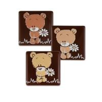 105 St. Quadrate Bär, dunkle Schokolade, sortiert