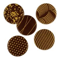 Aufleger gold, dunkle Schokolade, sortiert