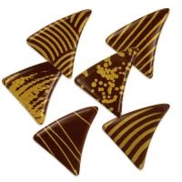 216 St. Dreiecke klein gold, dunkle Schokolade, sortiert