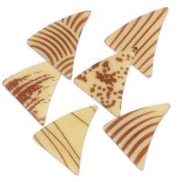 216 St. Dreiecke klein braun, weiße Schokolade, sortiert