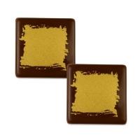 105 St. Quadrate gold, dunkle Schokolade
