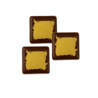 240 St. Quadrate klein gold, dunkle Schokolade