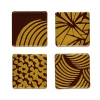 240 St. Quadrate gold, dunkle Schokolade, sortiert
