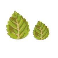 Blätter, weiße Schokolade, groß & klein sortiert