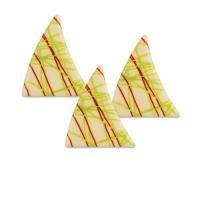 Dreiecke, weiße Schokolade Striche rot-grün