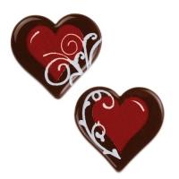 160 St. Herz, rot, dunkle Schokolade, sortiert
