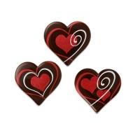 Herz, dunkle Schokolade, sortiert
