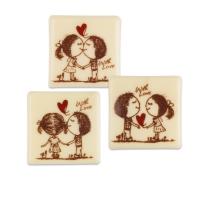 140 St. Quadrate  With Love , weiße Schokolade, soritert