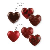 Schokoladen-Hohlherz, 3D, dunkle Schokolade, rot