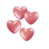 Kleine Herzen, weiße Schokolade, rosa
