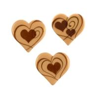 Herzen, blonde Schokolade, sortiert