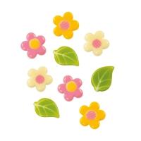 Blumen und Blätter, weiße Schokolade sortiert