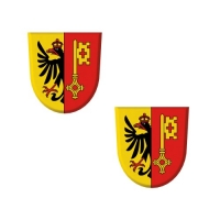 "Wappen ""Genf"" aus Dekormasse"