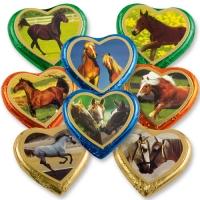 40 St. Nougat-Herzen bunt gr.Pferde