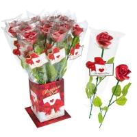 20 St. Rote Marzipan-Rosen  Elegance