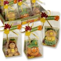 12 St. Marzipan-Set Herbst, Cellophanbeutel und Tray, sortiert