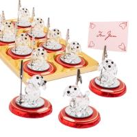 16 St. Kristallglas-Hund auf Pralinentaler